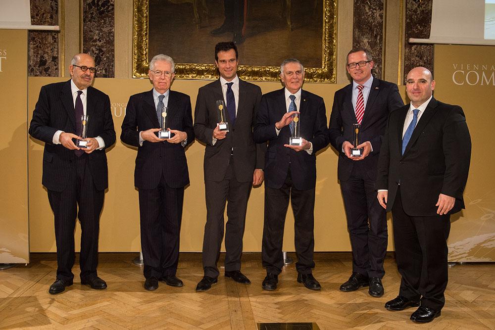 Golden Arrow 2016_Mohamed ElBaradei_Mario Monti_Markus Rogan_Dan Shechtman_Günther Fehlinger